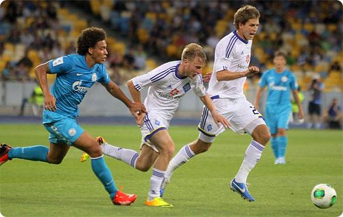 «Зенит» уступил киевскому «Динамо» в матче второго тура «Объединенного турнира»