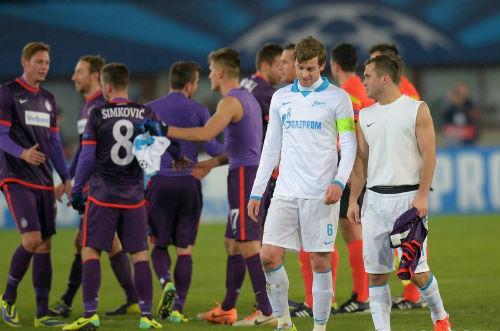 «Зенит» проиграл «Аустрии», но вышел в плей-офф Лиги Чемпионов