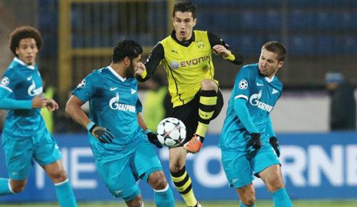 «Зенит» уступил «Боруссии» в домашнем матче